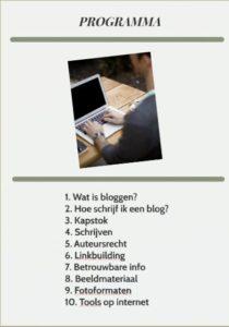Programma Zakelijk Bloggen