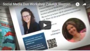 Promo video Social Media Duo workshop zakelijk bloggen