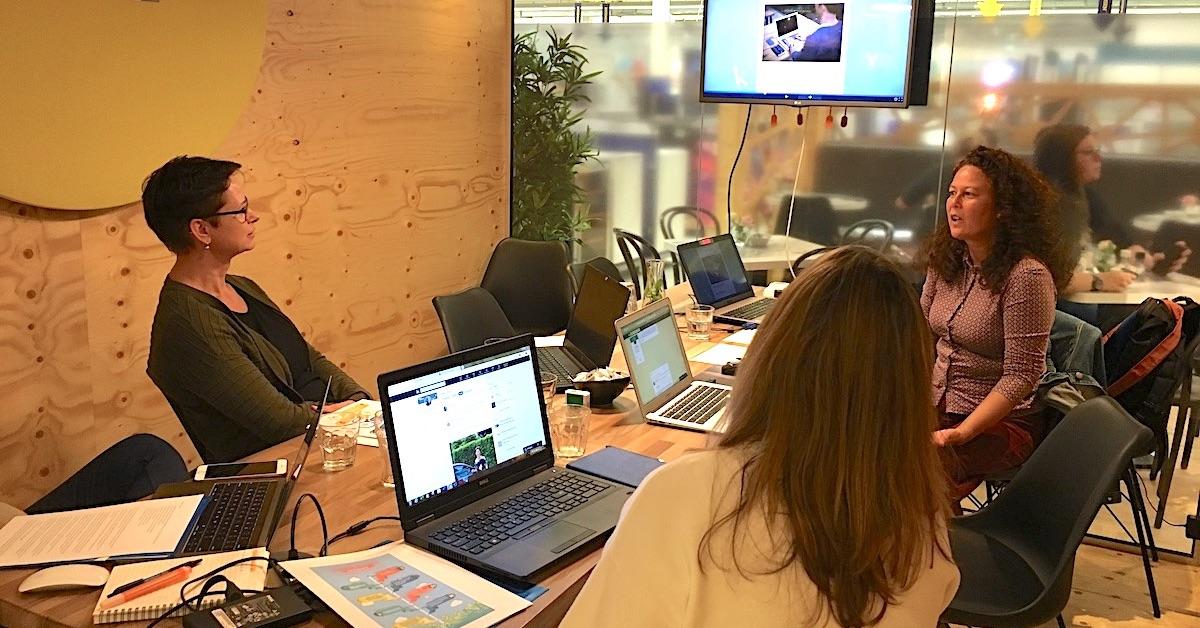 Social Media Duo tijdens workshop Zakelijk Boggen