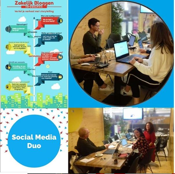 Agenda afbeelding Collage workshops Social Media Duo