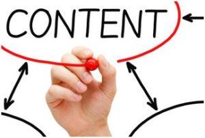 Onderdeel van het bouwen van een website. Content.