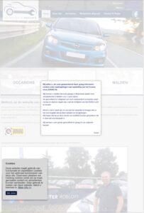 Voorbeeld van een website die deels responsive is: de layout is goed op een mobiele telefoon, maar de lopende tekst veel te klein.
