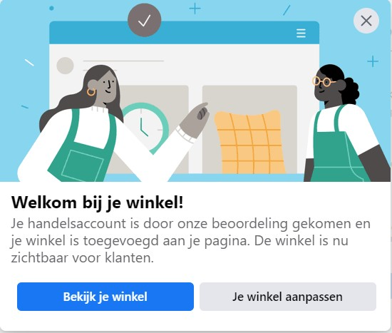 Facebook Shopping Welkom